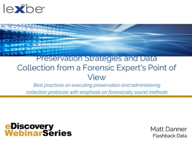 Preservation Strategies and Data Collection from a Forensic Expert's Point of View