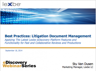 Best Practices: Litigation Document Management