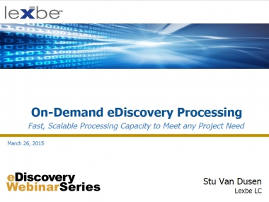 OnDemand eDiscovery Processing