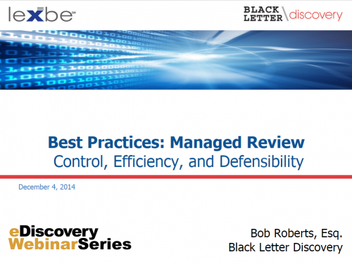 Best Practices: Managed Review