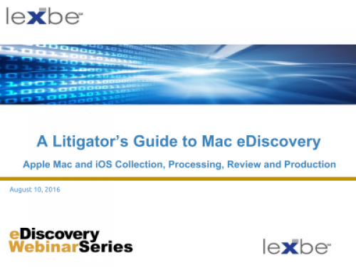 A Litigator's Guide to Mac eDiscovery