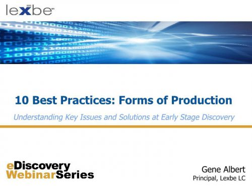 10 Best Practices: Forms of Production