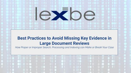 Best Practices to Avoid Missing Key Evidence in Large Document Reviews