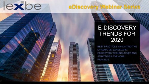 eDiscovery Trends for 2020