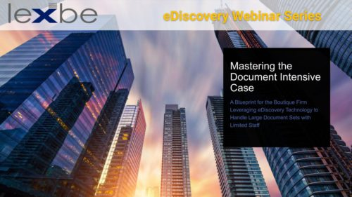 Mastering the Document Intensive Case: A Blueprint for the Boutique Firm